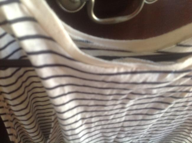 Denim & Supply Sleeveless White Strip Crossover With Tags Top Beige and black stripes Image 9