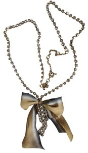 J. Crew Crystal cascade ribbon necklace