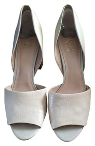 Franco Sarto Heeled Mules Leather beige Pumps