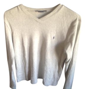 Ralph Lauren V Neck Sleeve No Visible Sign Of Wear. T Shirt Gray