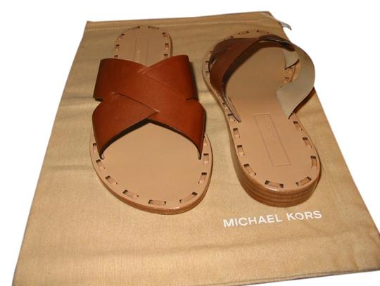 Michael Kors Trim At Inner Sole Brown Leather Flats
