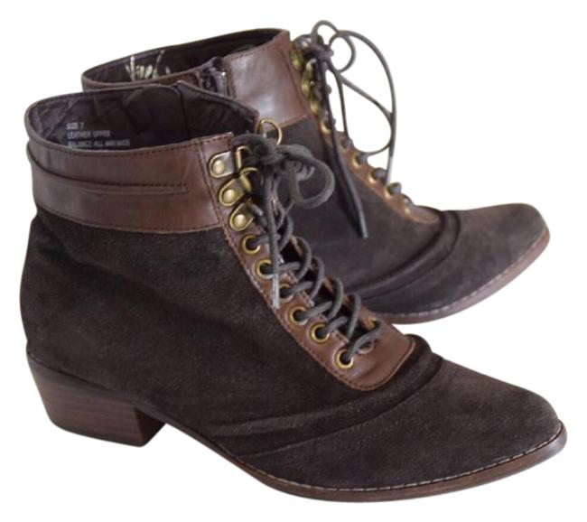 Item - Brown Leather Combat Boots/Booties Size US 7 Regular (M, B)