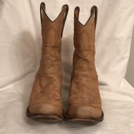 Corral Boots Western Cowboy Leather Hand Made Cowboy Beige Boots Image 1