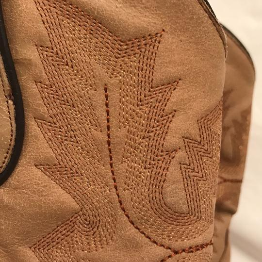 Corral Boots Western Cowboy Leather Hand Made Cowboy Beige Boots Image 4