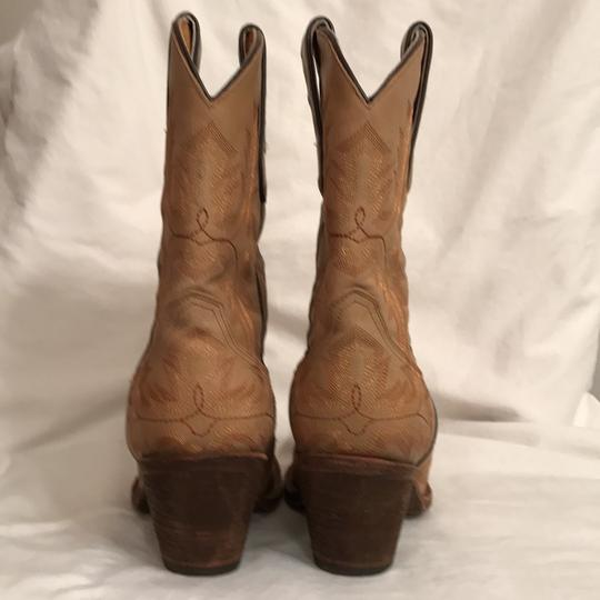 Corral Boots Western Cowboy Leather Hand Made Cowboy Beige Boots Image 5