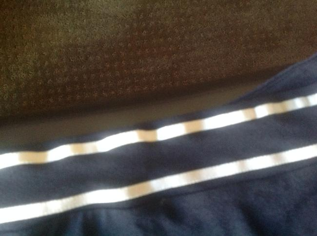 The Limited Like New Top Navy blue with white stripes Image 1