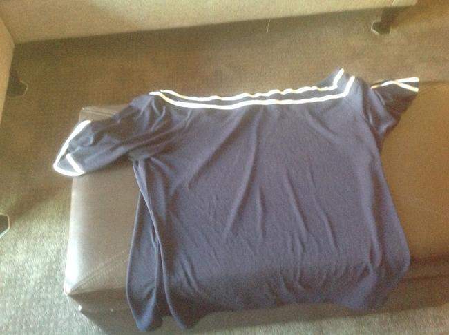 The Limited Like New Top Navy blue with white stripes Image 3
