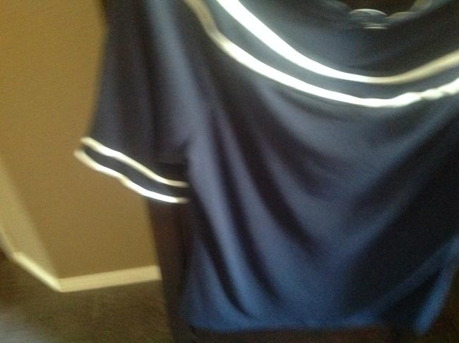 The Limited Like New Top Navy blue with white stripes Image 7