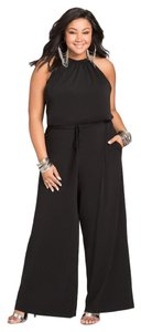 Boutique 9 CHAIN NECK BLOUSON HALTER JUMPSUIT SIZE 1X-3X