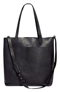 Madewell Leather Crossbody Tote in Black