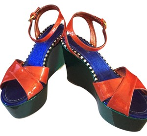 Sergio Rossi Red / green Platforms