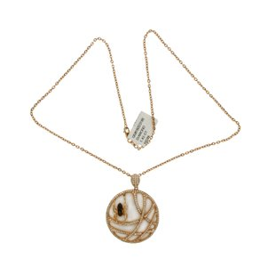 Luxo Jewelry 1.45 CT Diamonds 18K Rose Gold Tow Side Spider Pendant Necklace