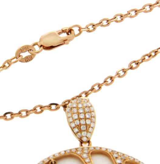 Luxo Jewelry 1.45 CT Diamonds 18K Rose Gold Tow Side Spider Pendant Necklace Image 2