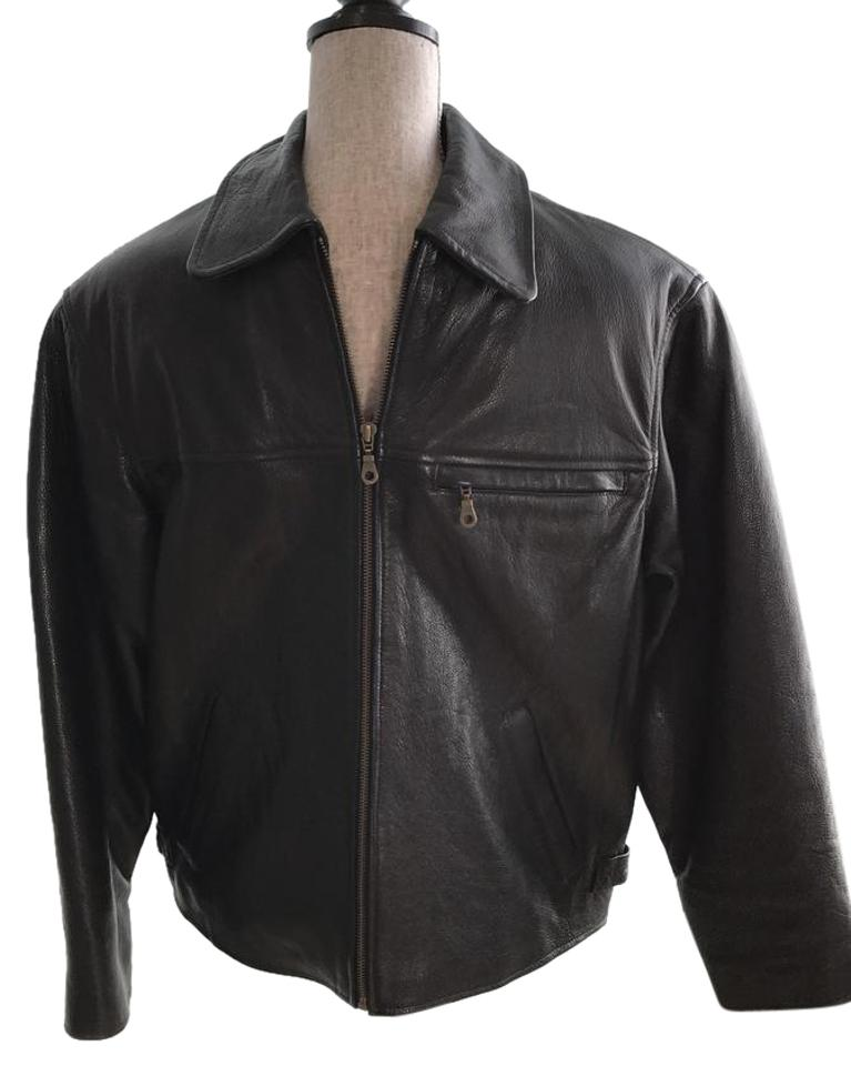 1e4211207 Wilsons Leather Black Men's Thinsulate Lined Men's Small Jacket Size 6 (S)  85% off retail