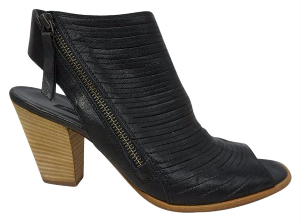 88636092b88 Paul Green Black Cayanne Leather Peep Toe Sandals Size US 10.5 ...