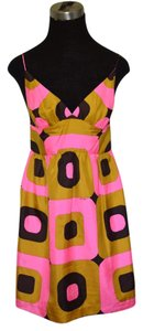 Milly of New York short dress pink and brown! on Tradesy