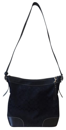 Preload https://item5.tradesy.com/images/coach-classic-signature-black-canvas-with-leather-trim-shoulder-bag-2137499-0-0.jpg?width=440&height=440