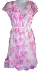dressbarn short dress Pink Floral Party Summer Office Appropriate on Tradesy