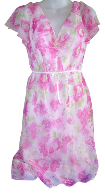 Dressbarn short dress Pink Floral Party Summer Office Appropriate on Tradesy Image 0