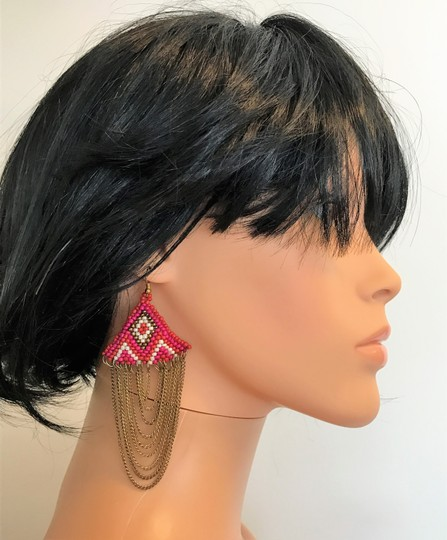 Other chains with beads earrings Image 3