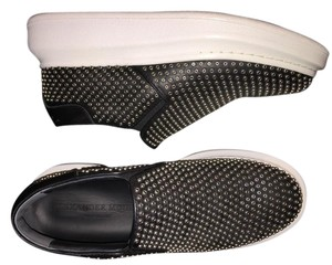 Alexander McQueen Studded Leather Slipon Black Athletic