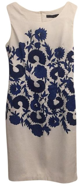 Preload https://img-static.tradesy.com/item/21375085/coast-whiteblue-whiteblue-floral-print-mid-length-workoffice-dress-size-4-s-0-1-650-650.jpg