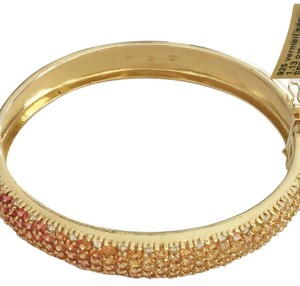 Diamondsy Gold plated Silver Sapphire bangle bracelet