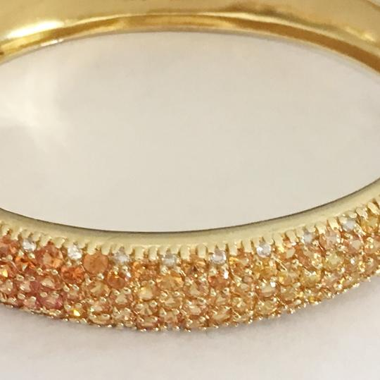 Diamondsy Gold plated Silver Sapphire bangle bracelet Image 2