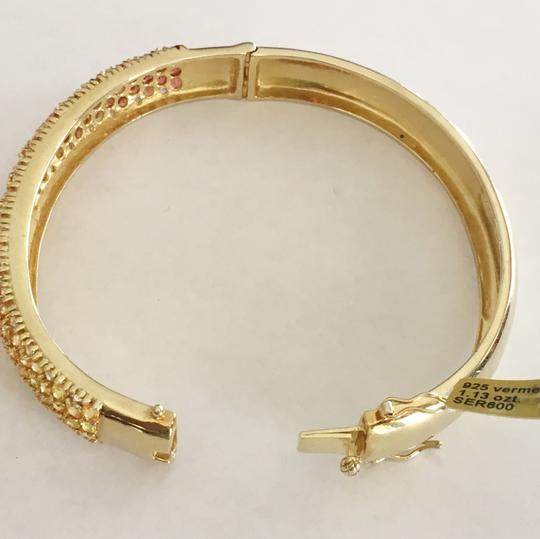 Diamondsy Gold plated Silver Sapphire bangle bracelet Image 4