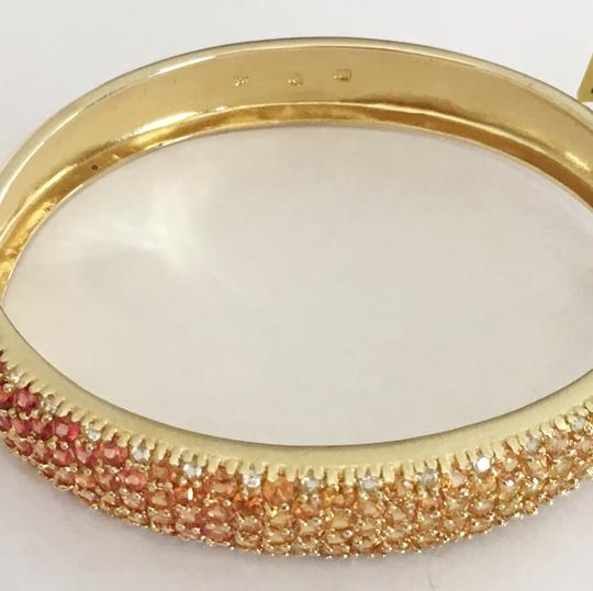 Diamondsy Gold plated Silver Sapphire bangle bracelet Image 5