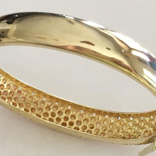 Diamondsy Gold plated Silver Sapphire bangle bracelet Image 6