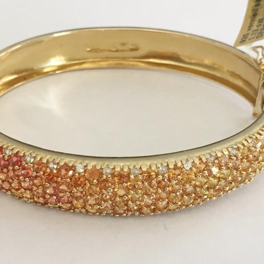 Diamondsy Gold plated Silver Sapphire bangle bracelet Image 7