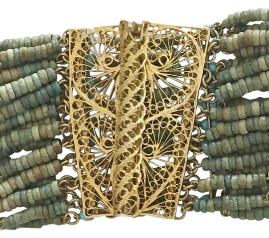 Preload https://img-static.tradesy.com/item/21375151/gold-blue-green-silver-turquoise-filigree-bracelet-0-1-540-540.jpg