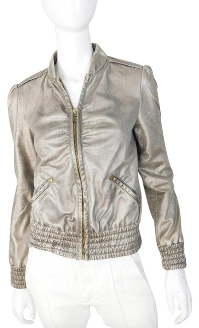 Item - Gold Faux - Small Jacket Size 6 (S)