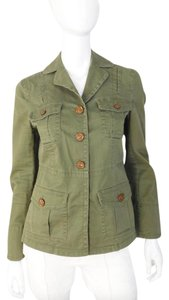 Marc by Marc Jacobs Khaki Button Cotton Military Military Jacket