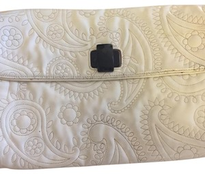 Kate Spade white with black hardware Clutch