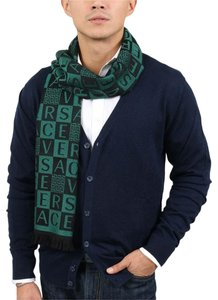 Versace Versace Emerald Green 100% Wool Mens Scarf