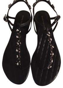 Marc Fisher Flat Slingback Leather black Sandals