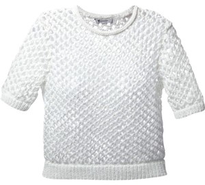 Alexander Wang Crop Open Knit Fishnet Sweater