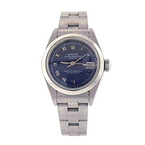 Rolex Rolex Date 69160 Stainless Steel Oyster Automatic Blue Ladies Watch