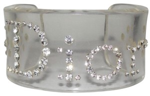 Christian Dior Christian Dior - Crystal Embellished Lucite Cuff