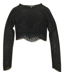 For Love & Lemons And Crop Lace Festival Top Black
