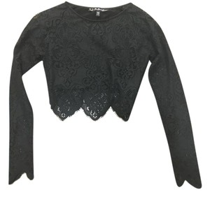 For Love & Lemons And Festival Lace Top Black