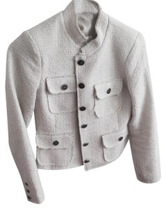 Max & Mia Boucle Tweed Tweed Cream Jacket