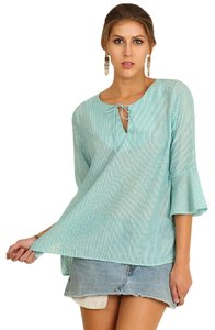 Umgee Bell Sleeve Flirty Tops Top Mint