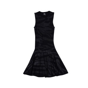 Alexander McQueen short dress Black Flared Printed on Tradesy