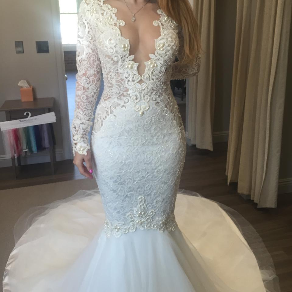 Berta Bridal Ivory Formal Wedding Dress Size 4 (S) - Tradesy