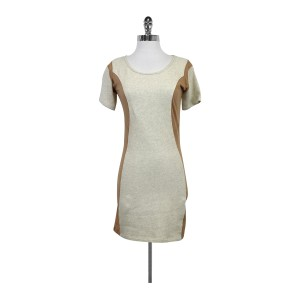 Surface to Air short dress Beige Sweater With Nude Side Panels on Tradesy