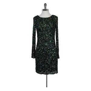 Aidan Mattox short dress Emerald Green Sequin on Tradesy