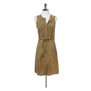 ecru short dress Camel Perforated Suede on Tradesy